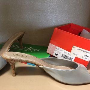 Slide Grey Patent Leather Slide Shoe